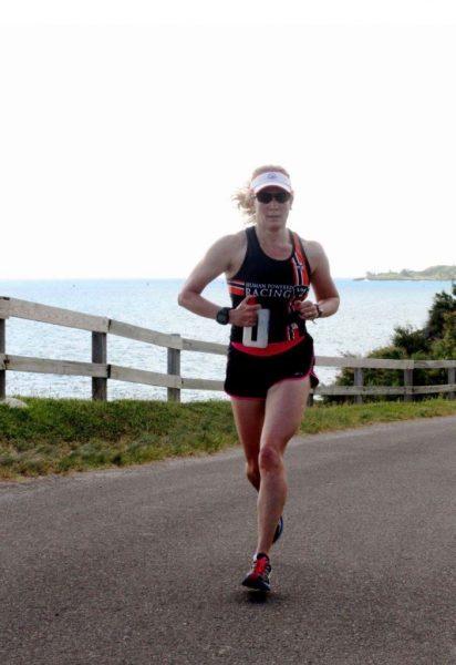 April Vesey Racing in Bermuda in her Human Powered Racing Kit