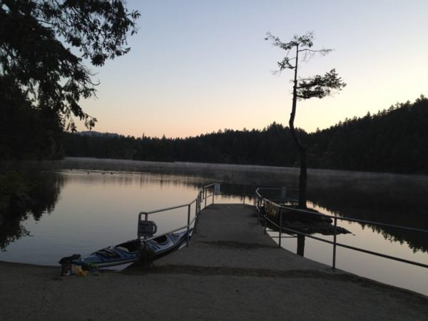 Youth team Thetis lake quiet moment