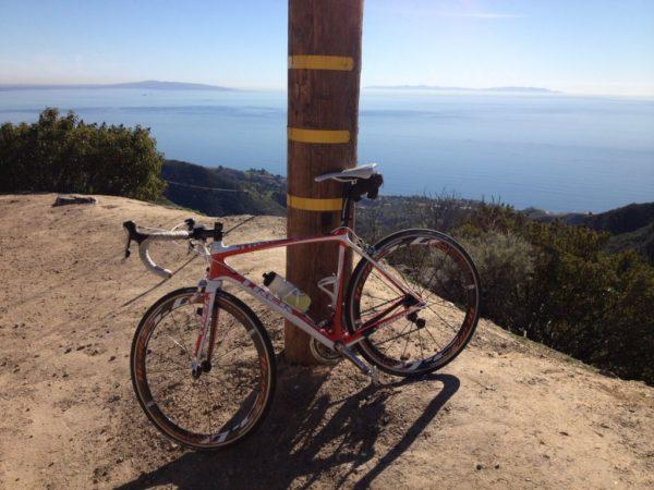 Bike overlooking Pacific Ocean