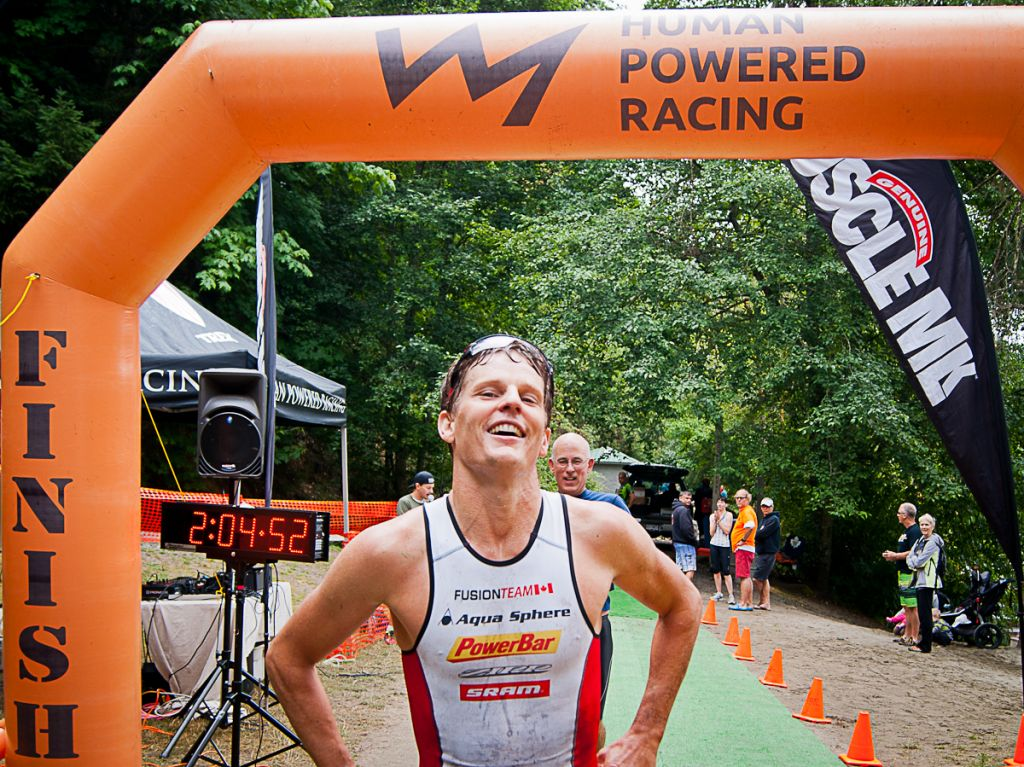 Brent McMahon at the finish of XTERRA 2014