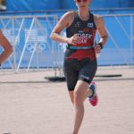 Barbara Rober on run at the ITU World Championship in Chicago