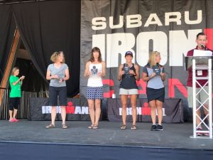 Diana Thaxter on the podium in 3rd place at Whistler Ironman 70.3