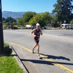 Rob running during the ITU Long Course World Championship in Penticton 2017