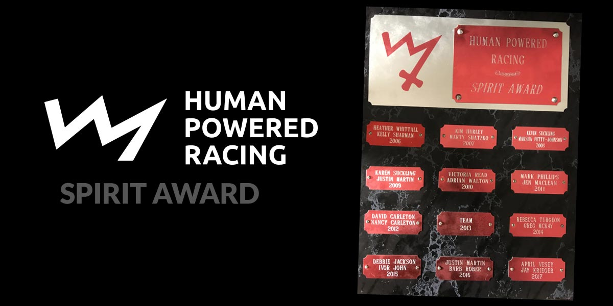 Human Powered Racing Spirit Award