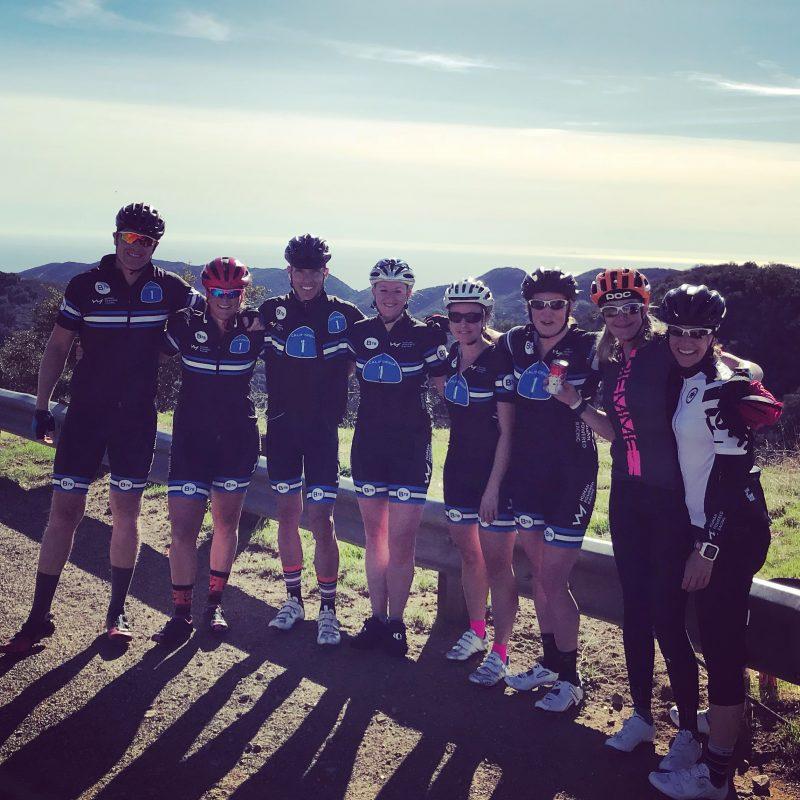Group Photo at top of C Group at top of Latigo Climb at Vertical Camp