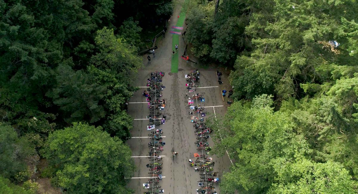 Aerial view of XTERRA Victoria transition