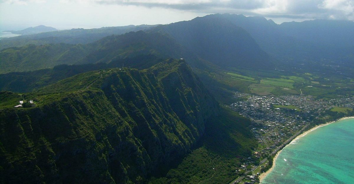 Ko'olau Range on Oahu.