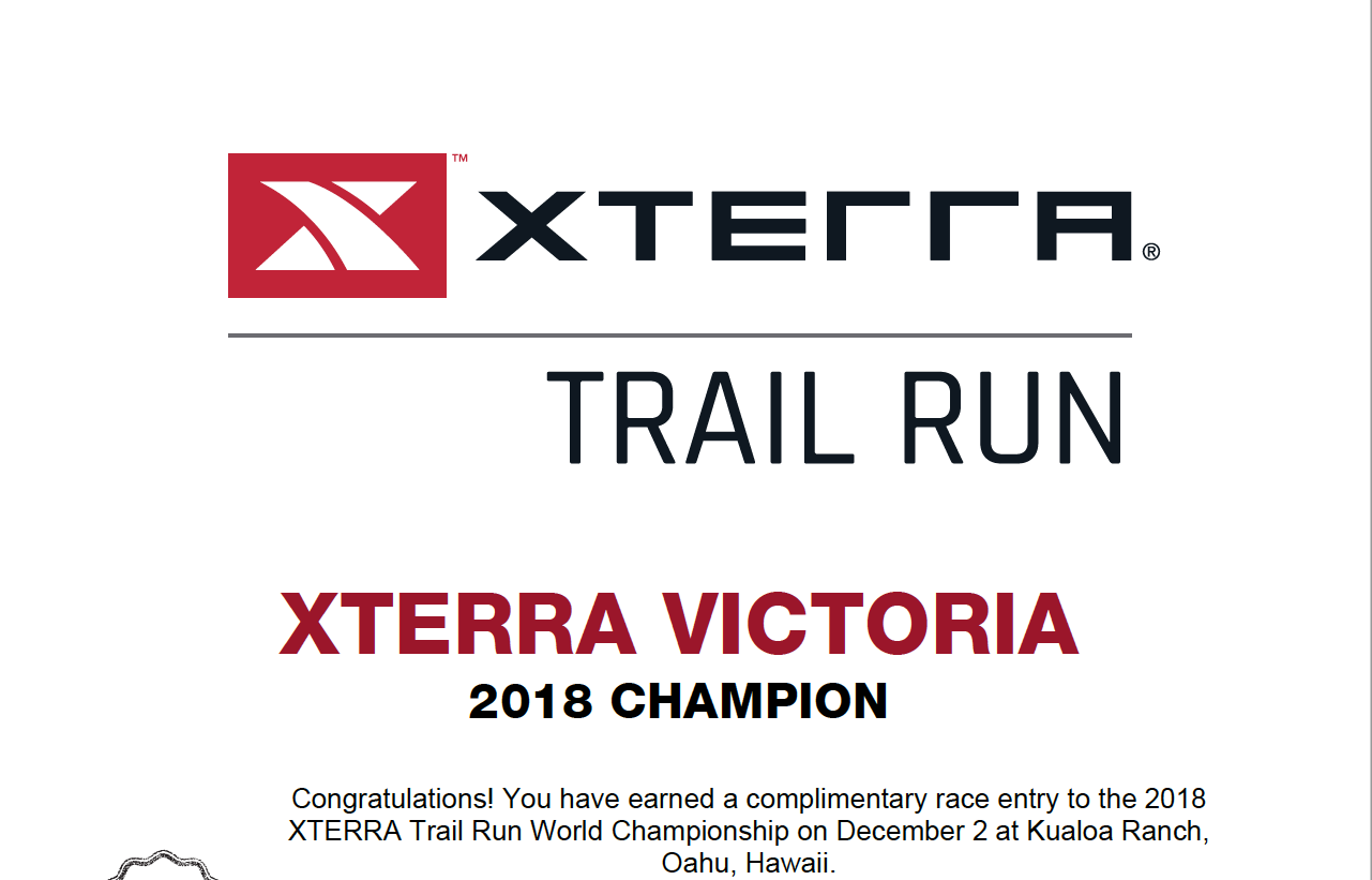 XTERRA World Champs Certificate