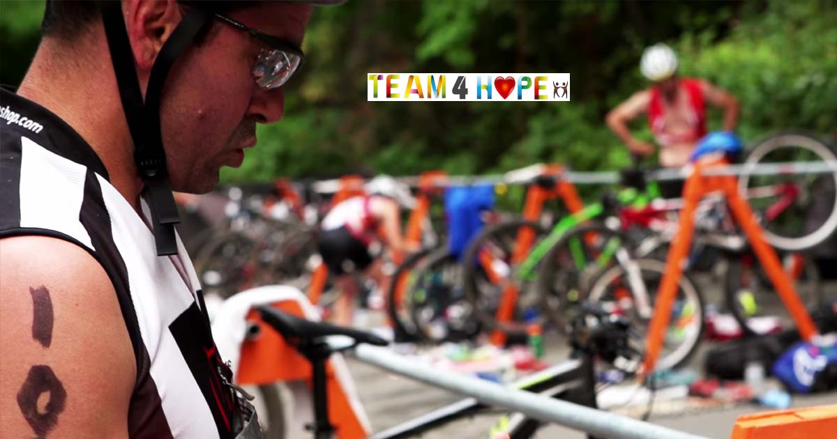XTERRA racers in the transition zone: team 4 hope