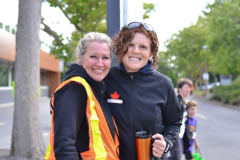 Debbie Jackson and Collette Hopkins, volunteers.