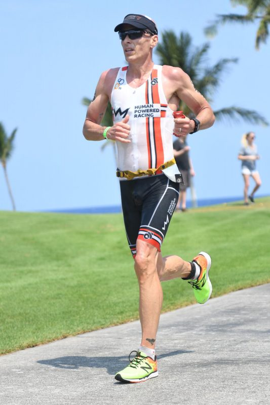 Mike Neill running at Kona 70.3 2018