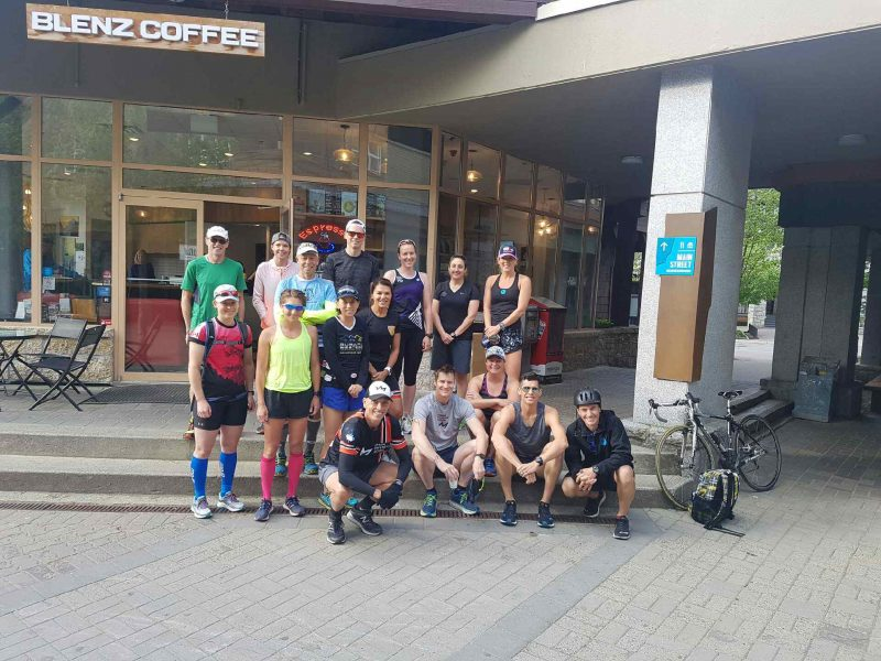 Athletes pre run at 2018 Ironman Canada Camp